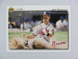 Jeff Treadway Atlanta Braves 1992 Upper Deck Baseball Card 389 - $0.98