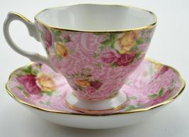 "ROYAL ALBERT ""DUSKY PINK"" COLLECTABLE TEAS CUP & SAUCER SET FINE BONE CH... - $34.90"