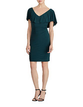 Lauren Ralph Lauren Womens Tama Ruffled Jersey Sheath Dress Green 8, 2548-3 - $21.11
