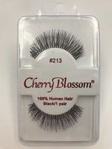CHERRY BLOSSOM EYELASHES MODEL# 213 100% HUMAN HAIR  BLACK 1 PAIR PER EA... - $1.48+