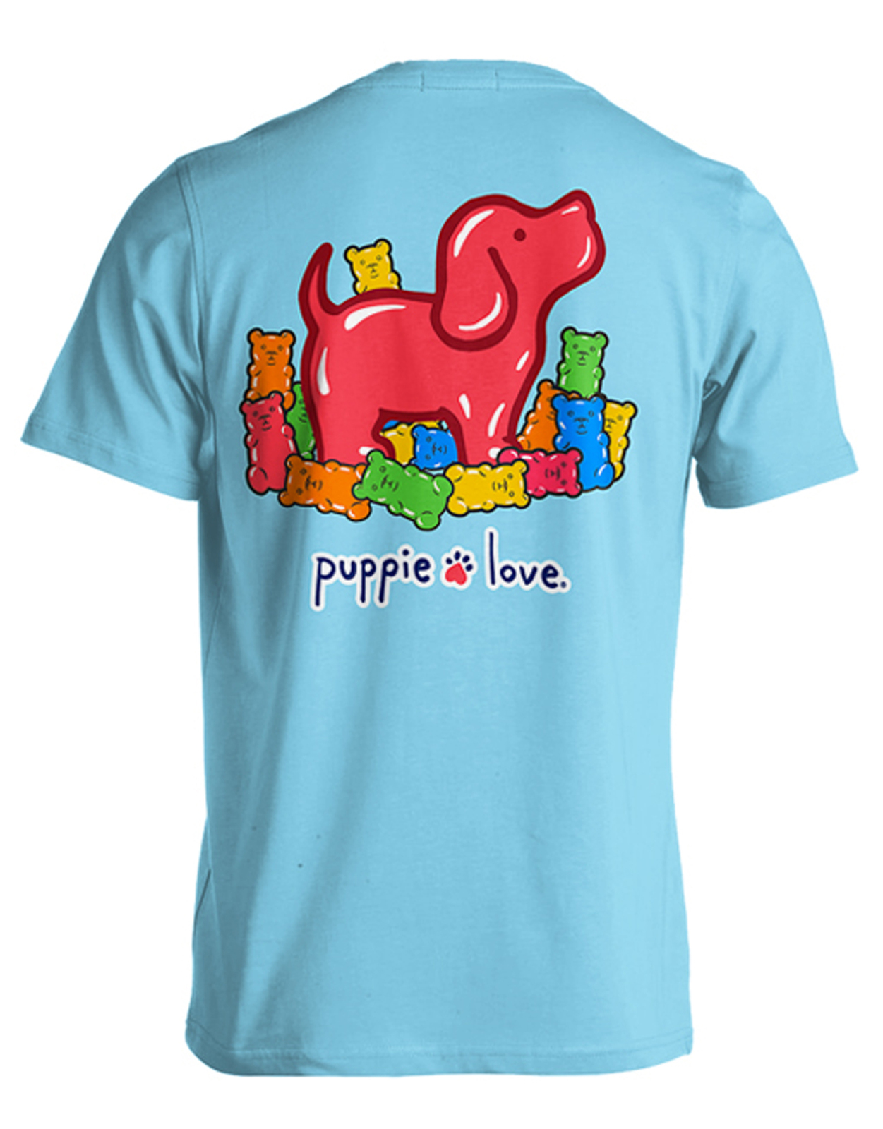 Puppie Love Rescue Dog Adult Unisex Short Sleeve Cotton Tee,Gummie Pup