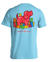 Puppie Love Rescue Dog Adult Unisex Short Sleeve Cotton Tee,Gummie Pup image 1