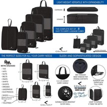 4 Set Compression Packing Cubes + Free Shoe Bag For Travel And Luggage O... - $734,94 MXN