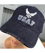 USAF United States Air Force Eagle Crest Adjustable Baseball Hat Cap - $14.03