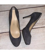 Ivanka Trump Gray Plaid Suede Pumps Heels 6.5 Itsophia NWOB - $25.00