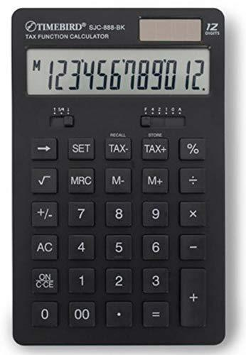 Timebird SJC-888 12 Digits Dual Powered Standard Function Desktop Calculator (Bl