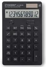 Timebird SJC-888 12 Digits Dual Powered Standard Function Desktop Calculator (Bl