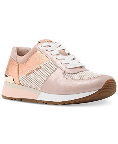 Michael Kors MK Women's Allie Trainer Leather (8, Soft Pink)