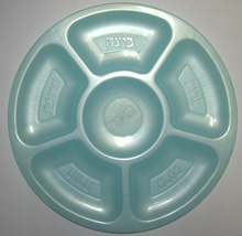 4 X Judaica Plastic Pesach Passover Seder Plate Children Teaching Aid Israel image 4