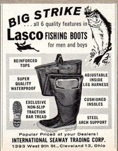 1963 Print Ad Lasco Fishing Boots International Seaway Trading Corp Clev... - $9.78