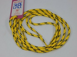 "Yellow Blue Round Youth Shoe Laces 36"" inches will work for 5 pair of eyelets"