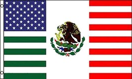 AMERICAN MEXICO FRIENDSHIP COMBO 3 X 5 FLAG FL761 banner MEXICAN usa w g... - $6.27