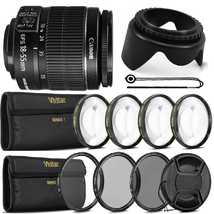 Canon EF-S 18-55mm f/3.5-5.6 IS II Lens with Top Filter Set For Canon 10... - $124.83