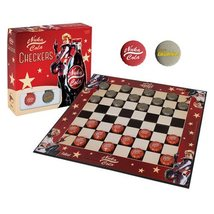 Fallout 4 Nuka Cola Checkers Board Game /w Quantum + Nuka Cola Bottle Cap Pieces - $69.99