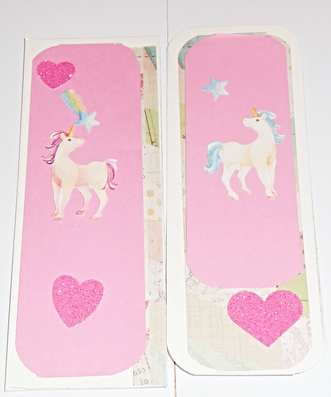 "1 NEW Unicorn handmade sticker bookmarks 2'' x5"" size"