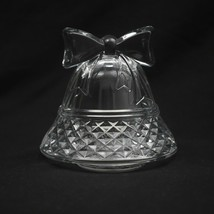 Cristal D'Arques Paris Christmas Bell Votive Candle Holder Tealight Crystal  - $22.43