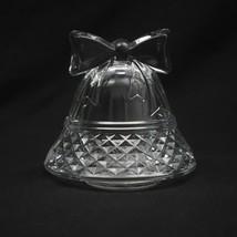 Cristal D'Arques Paris Christmas Bell Votive Candle Holder Tealight Crys... - $22.43