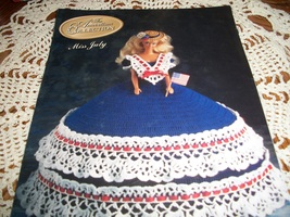 Miss July Fashion Doll Crochet Dress Pattern  - $10.00