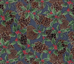 Hoffman Fabrics Storm Silver Pinecones100% cotton fabric by the yard - $8.64