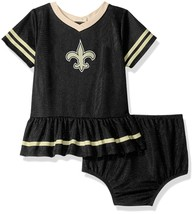NFL New Orleans Saints Infant Dazzle Dress & Panty Size 6 Month Youth Ge... - $23.93