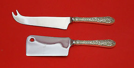 Bridal Bouquet By Alvin Sterling Silver Cheese Server Serving Set 2P Hhws Custom - $110.30