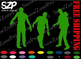 Zombie Decal Walking Dead Bumper Sticker Window Gun Ammo Survival 4 - $6.34