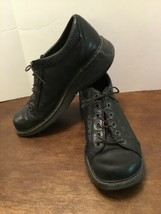 Dr Martens Black Shoes Mens 11 US Lace Up Scalloped Leather 9 UK  Air Wair - $33.87