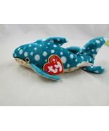 "Ty Beanie Baby Poseidon Whale Shark 8"" 2001 Stuffed Animal Toy - $9.95"