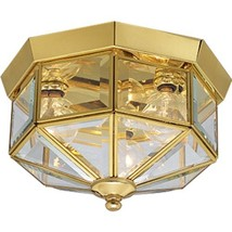 Progress Lighting P5788-10 Octagonal Close-To-Ceiling Fixture with Clear... - €67,83 EUR