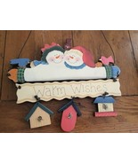Christmas Snowman Sign Hand Painted On Wood - $12.69