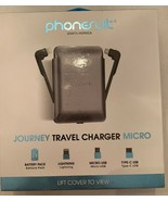 PhoneSuit - JOURNEY 3,500 mAh Portable Charger Lightning, USB Output, Mi... - $21.24