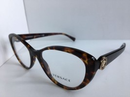 New Versace Mod. 3246 108 Tortoise  52mm Cats Eye Women's Eyeglasses Italy  - $179.99