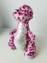 "Ganz Webkinz Spotty Dinosaur 10"" Plush Pink Purple Spotted Stuffed Animal - $10.94"