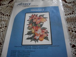 Artecy Cross Stitch Hibiscus 2 #10315 Chart - $14.00