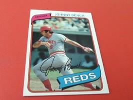 1980 # 100 Topps Johnny Bench Mint / Mint + Cincinnati Reds Baseball - $19.99
