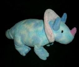 "12"" Ty Pluffies Tromps Blue Dinosaur Stuffed Animal Plush Toy Soft 2005 B EAN S - $11.03"