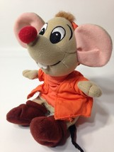 "Disney Cinderella Jaq Mouse Plush Grey Bean Bag Beanie Stuffed Toy 8"" - $18.95"