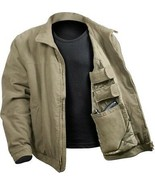 Khaki Concealed Carry CCW Gun Holster Solid Padded Discreet Jacket - $79.99+