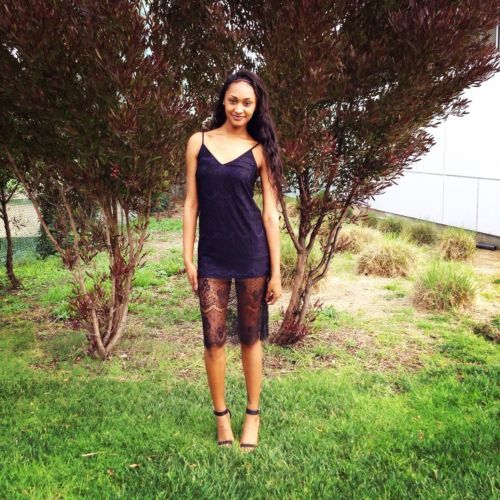 New Lush Dress Size Medium Black Blue Lace Overlay Nordstrom
