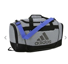 OPTIC STRIPE/BLACK adidas Defender III Small Duffle Bag (D) - $148.49