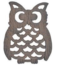"Decorative Cast Iron Trivet Owl Hot Pad Kitchen Decor Table 7.75"" Long - $13.99"