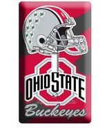 OHIO STATE BUCKEYES UNIVERSITY FOOTBALL TEAM 1 GANG LIGHT SWITCH ROOM HO... - $10.99