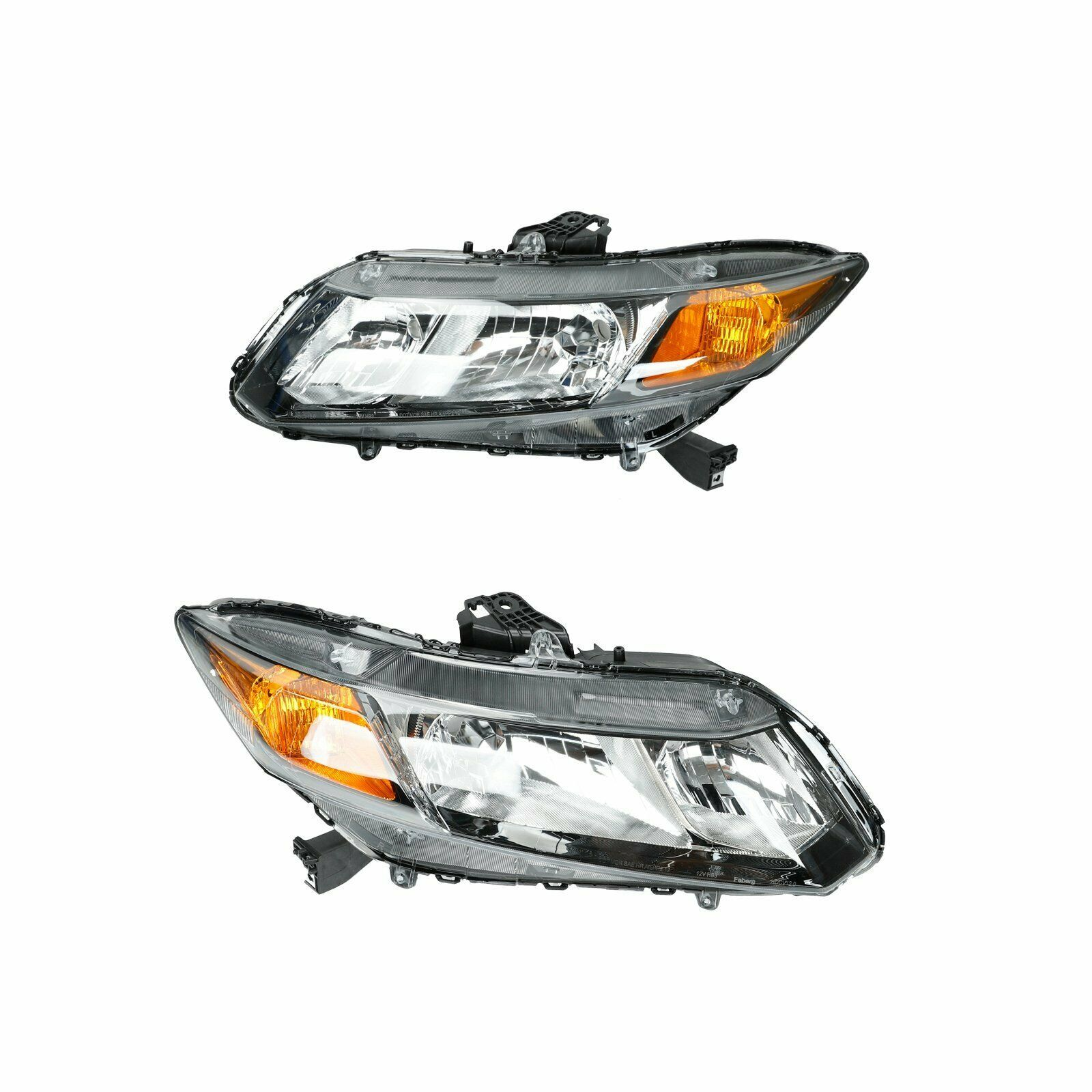 For 2012-2015 Honda Civic 4Dr Sedan Headlights Headlamps Replacement Left+Right - $149.68