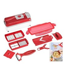JOPAY Supreme Red Peeler Cutter Multi Chopper Slicer Fruit - $25.95