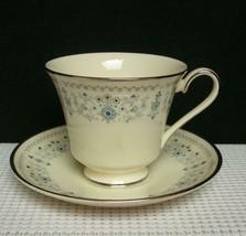 Beaumaris By Minton - Footed Tea Cup & Saucer Bone China England S762 Euc - $8.24