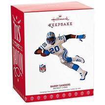 Hallmark Keepsake 2017 NFL Detroit Lions Barry Sanders Christmas Ornament - $13.86