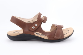 Abeo Crescent Strap Sandals Brown Women's Size US 9.5 Neutral Footbed (EPB)3786 - $92.00