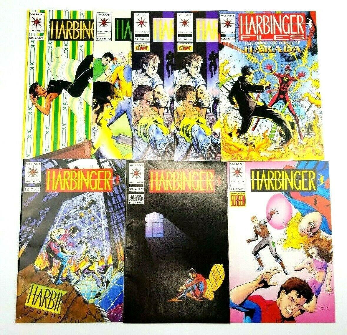 Harbinger 10 16 17 18 20 25 Harbinger Files #1 Valiant Comic Book Lot