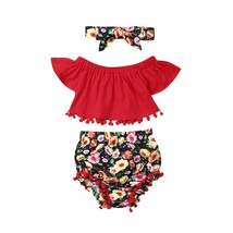 Sweet Infant Kid Baby Girl Flower Fly Sleeve Tops Pants Shorts Summer Cl... - $9.59