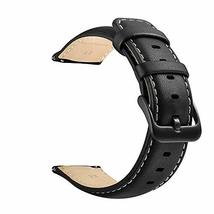 22mm Watch Strap, LEUNGLIK Quick Release Leather Watch Strap Replacement Bands w image 6